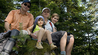 Familie in der Region Sonnenwald