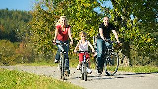 Familie auf dem Fahrrad