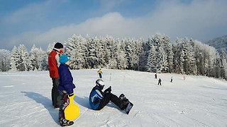 Skifahren am Steinberglift